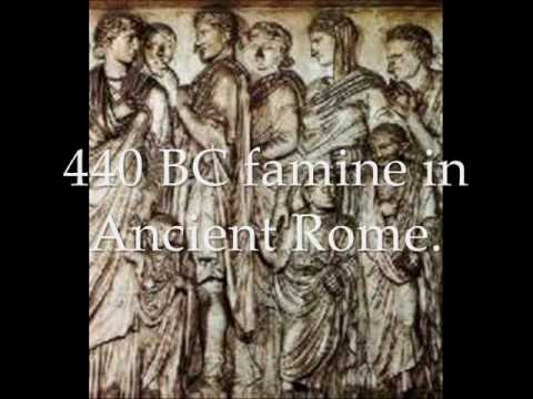Famines throughout the ages: 5BC to 18th Century