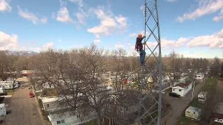 Tower Climber / Rescuer Training.  We get to the 60' level!  Filmed using a Blade 350 QX.