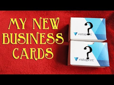 Unboxing My New Business Cards - But Will I Like Them?