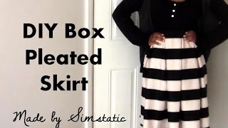 Diy Box Pleated Skirt Tutorial