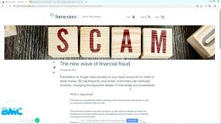 Scam - Change of bank account scams