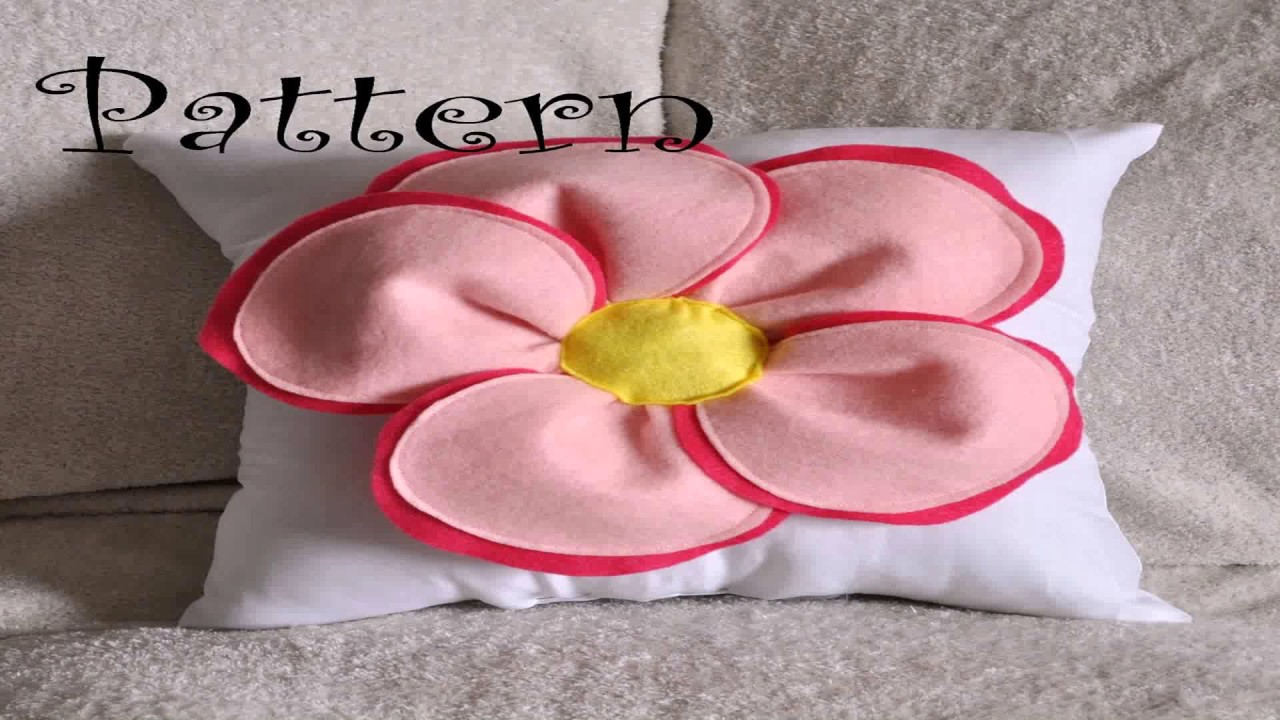 Diy Decorative Felt Flower Pillow - YouTube