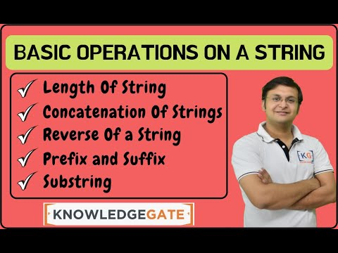 Basics Operations on strings | TOC | THEORY OF COMPUTATION | AUTOMATA | COMPUTER SCIENCE | part-7