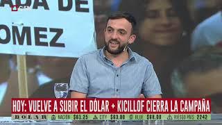 Hoy: Vuelve a subir el dólar + Kicillof cierra la campaña
