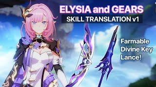 Elysia Skill Translation and FARMABLE Divine Key DARK ABYSS! 🌸 Honkai Impact 5.1 BETA