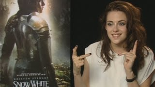 Kristen Stewart on kissing the two leads in Snow White!