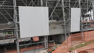 Arena MRV - 21/10/2021 - 6/ SEQUÊNCIA MONTAGEM DAS TELHAS /FECHAMENTO.
