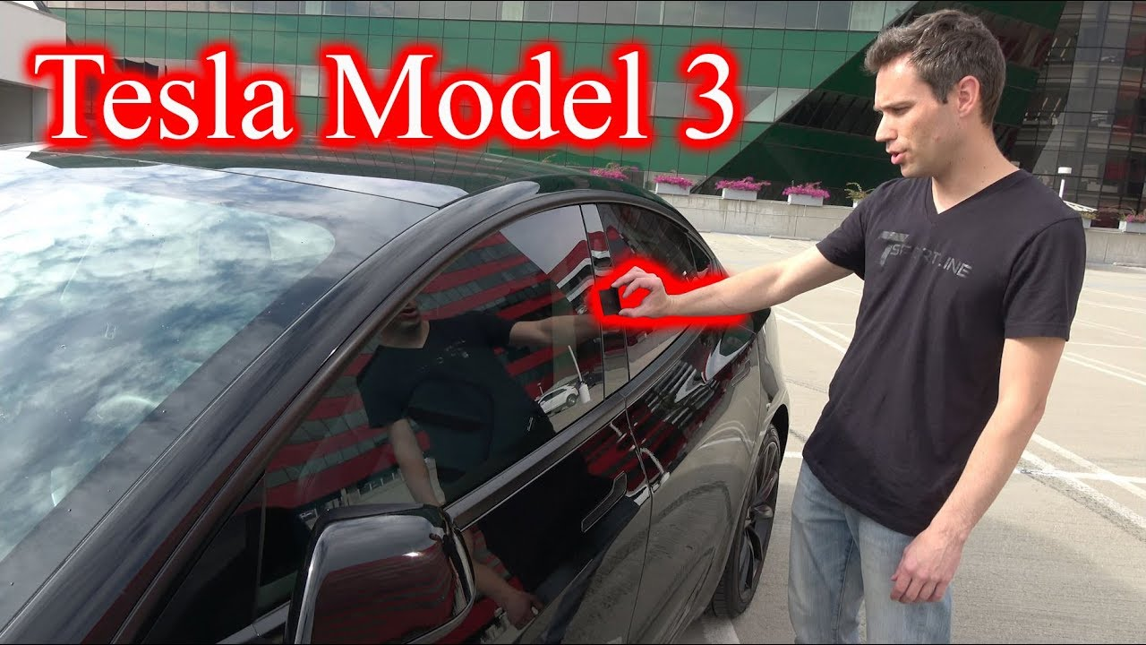 tesla model 3 my first drive and the exterior of the car youtube. Black Bedroom Furniture Sets. Home Design Ideas