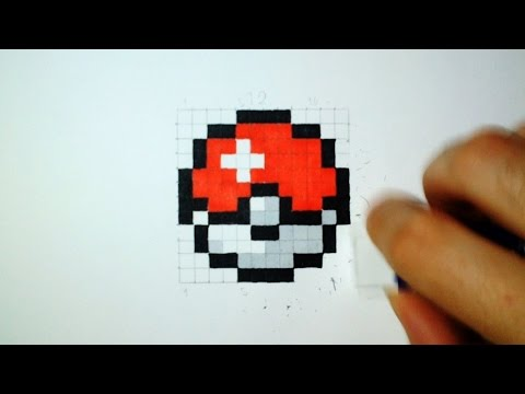 How To Draw A Pokeball Easy Pixel Art Youtube