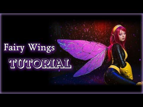 DIY X-MEN Pixie Fairy Wings TUTORIAL [Eng sub]