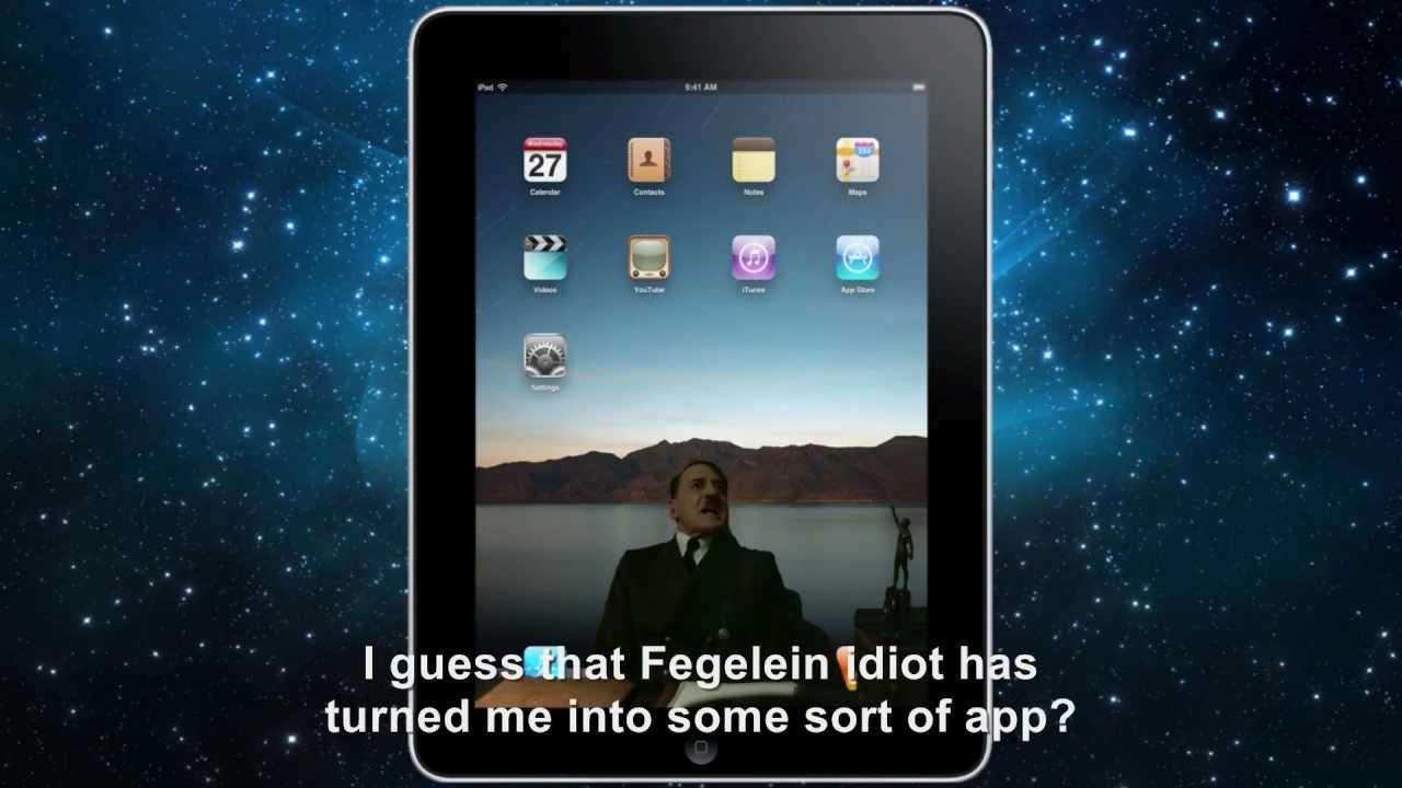 Hitler is informed he's on an iPad