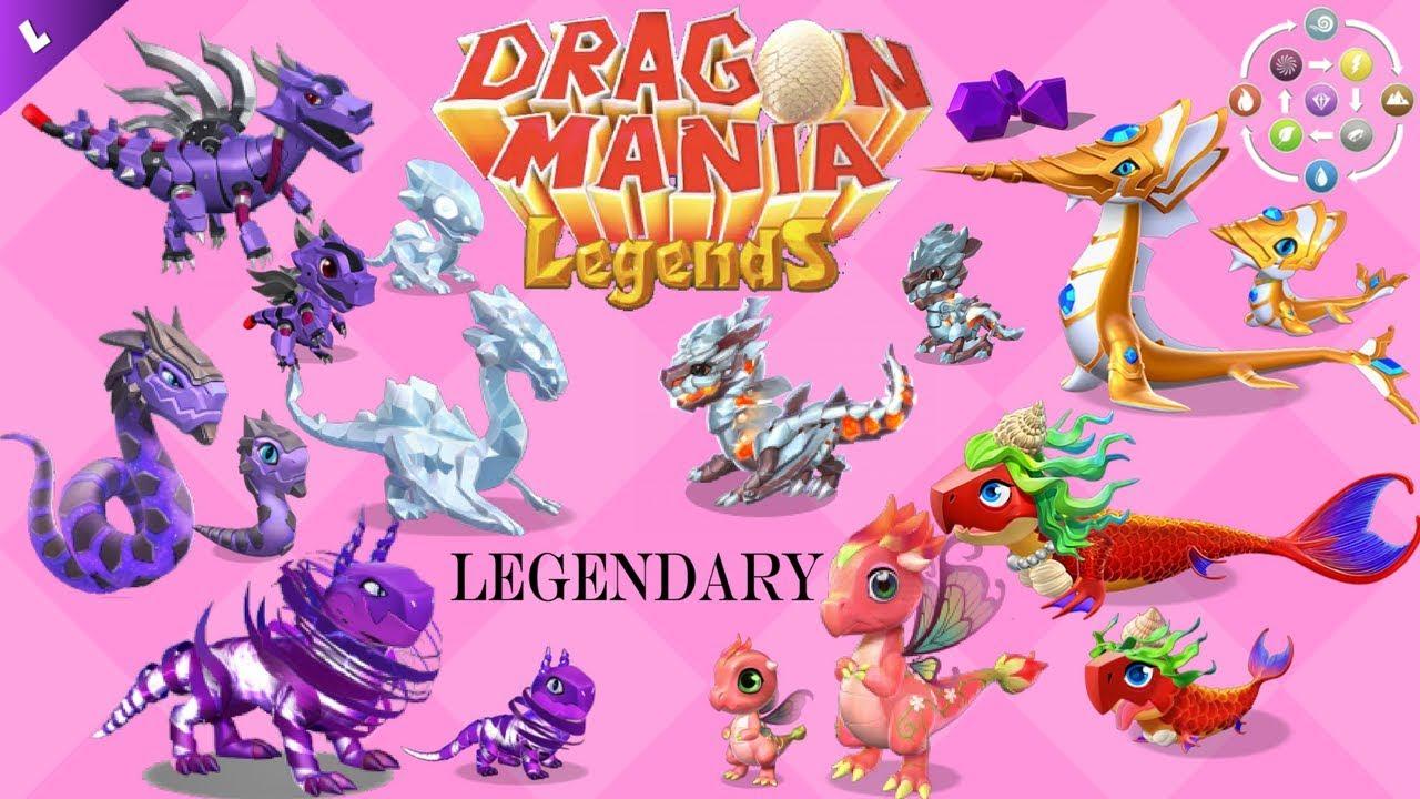 Dragon Legends: 1 BEST BREEDING COMBO For Each Basic LEGENDARY DRAGONS
