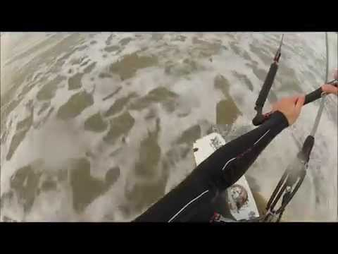 GoPro kite surfing light wind on 14m RPM