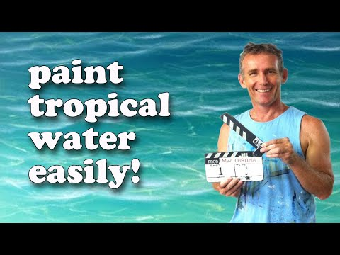 How To Paint Tropical Water