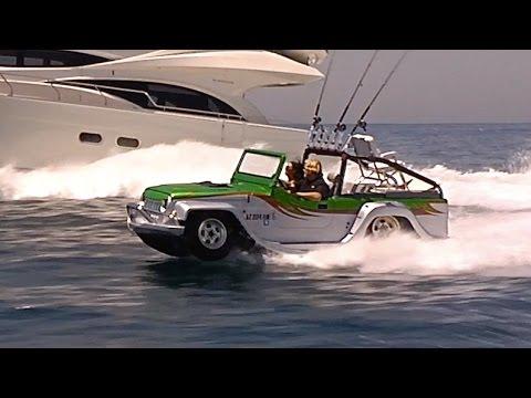 Amphibious Car Worlds Fastest Amphibious Vehicle WaterCar Panther Sexy  Commercial Honda CARJAM TV HD