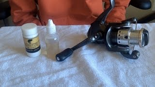How to grease and oil a spinning reel