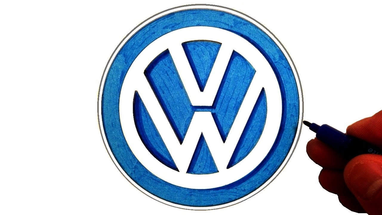 how to draw the volkswagen logo