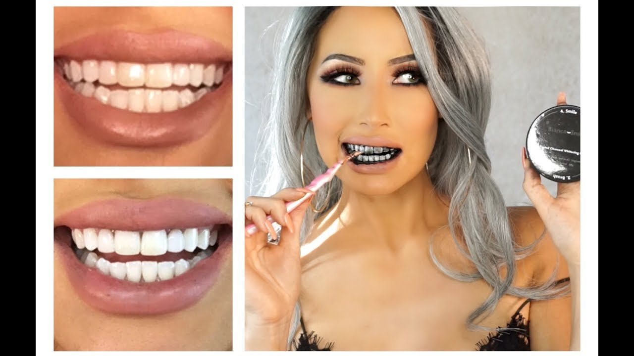 Charcoal Teeth Whitening Bianco Smile Review Youtube