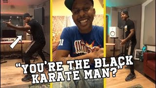 Gillie Da King Make Cousin Tell Why He Got Locked Up & Shows Karate Moves!