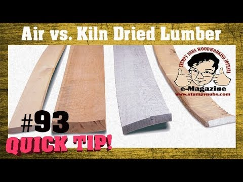 Can you trust lumber you cut and dry yourself? (Kiln vs. air-drying)