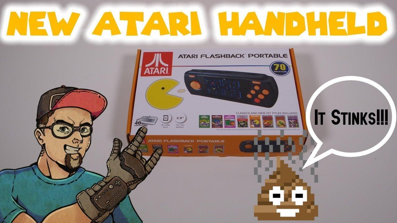 NEW 2017 Atari Flashback Portable AtGames 70 Atari Game Handheld