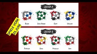 WM Tipps heute: Russland - Uruguay ⚽ Spanien - Marokko ⚽ Portugal - Iran ⚽ Saudi Arabien - Ägypten