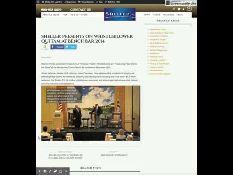 Law Firm CLE Video on News Webpage Produced by Law Catalyst