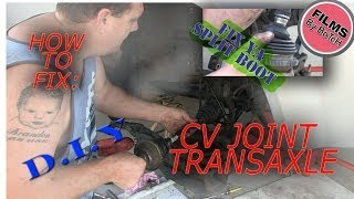 How to fix repair cv joint boot rubbers, replace clicking cv driveshaft, instructional tutorial