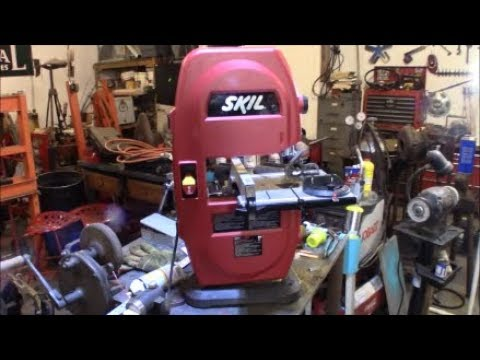 "SKIL 9""Bandsaw 3386 setup and adjustments"