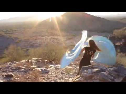 Living Waters Aqua Blue Worship Flags in the Desert - Music by Julie Meyer