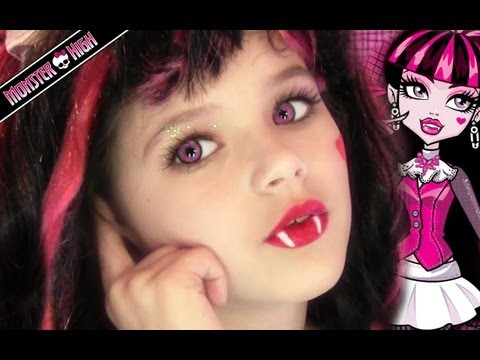 Draculaura Monster High Doll Costume Makeup Tutorial for Halloween Travel Video