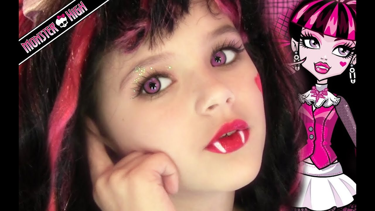 Draculaura Monster High Doll Costume Makeup Tutorial for Halloween or Cosplay | KittiesMama - YouTube  sc 1 st  YouTube & Draculaura Monster High Doll Costume Makeup Tutorial for Halloween ...