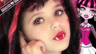 Draculaura Monster High Doll Costume Makeup Tutorial for Halloween(Emma shows you to do your costume makeup like Draculaura from Monster High. Emma is one of YouTube's Youngest Makeup Gurus at only 8 years old., 2011-10-12T22:36:29.000Z)