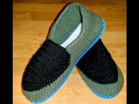 Crochet Slipper With Flip Flop Soles Youtube