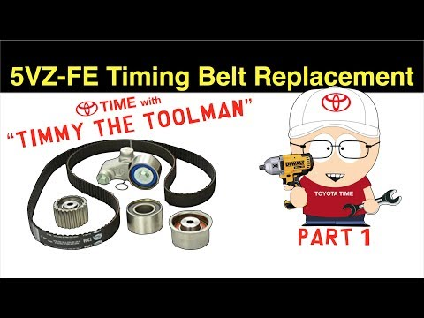 Toyota Timing Belt Replacement (PART 1) for 3.4L V6 5VZ-FE (4runner, Tacoma, Tundra & T100)