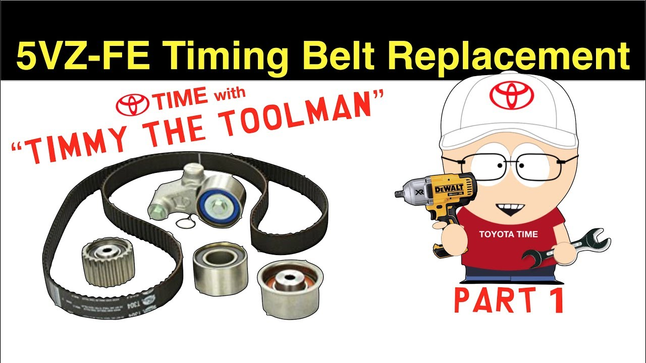 small resolution of toyota timing belt replacement part 1 for 3 4l v6 5vz fe 4runner tacoma tundra t100