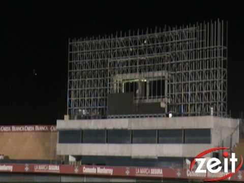 Montaje de Pantalla Estadio Universitario Tigres UANL
