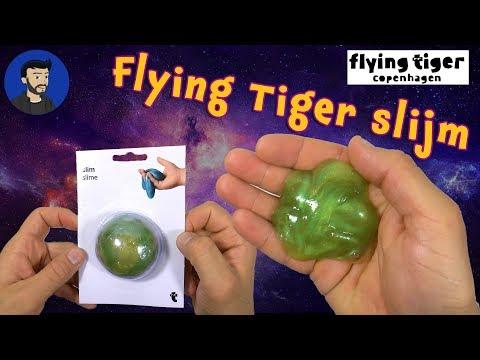 Flying Tiger slijm. Heel cool effect.