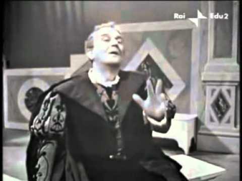 """Salvo Randone in """"Otello"""" di Shakespeare"""