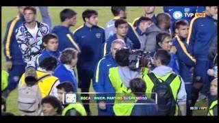 Superclásico Suspendido - Jugadores de Boca aplauden a la hinchada / Copa Libertadores 2015
