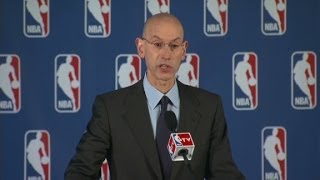 Repeat youtube video (Raw) NBA Commissioner Adam Silver bans Donald Sterling
