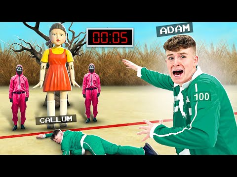 """""""SQUID GAME"""" in REAL Life Challenge with LITTLE BROTHER! 