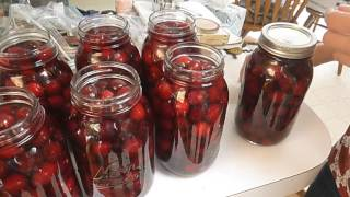 How to can cherries at home.