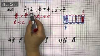 Упражнение 309. Математика 6 класс Виленкин Н.Я.