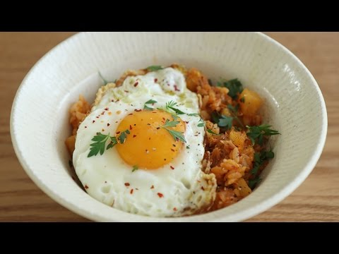 고추참치 볶음밥 : Simple Fried Rice with Hot Pepper Tuna   Honeykki 꿀키