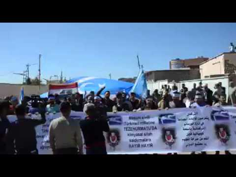 Iraqi Turkmens protesting ISIS for using chemical weapons | Türkmeneli Independence Movement