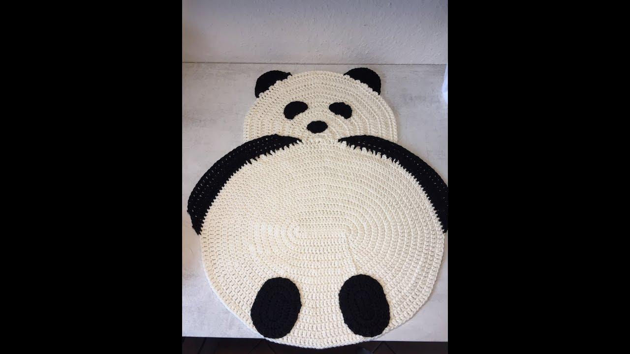 Tuto Tapis Panda Au Crochet Youtube