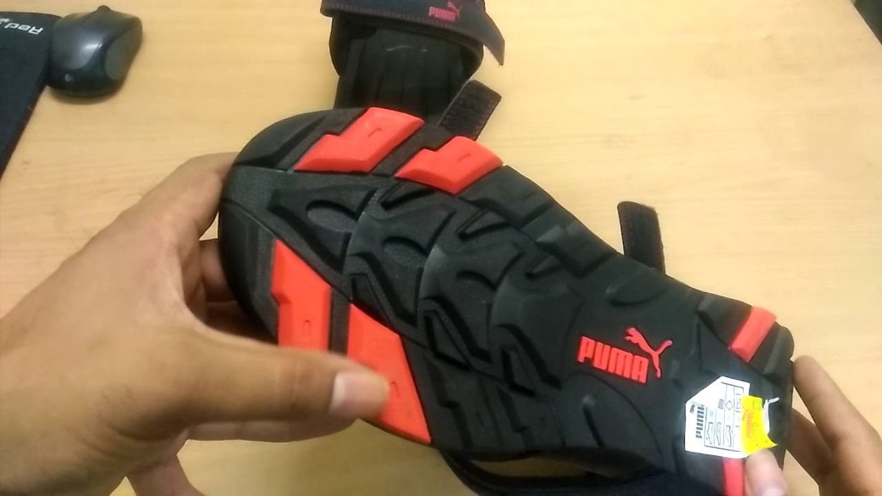 Puma men black - high risk red sports sandals unboxing and review ... a9bbc3851e40