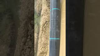 The HDPE pipe work