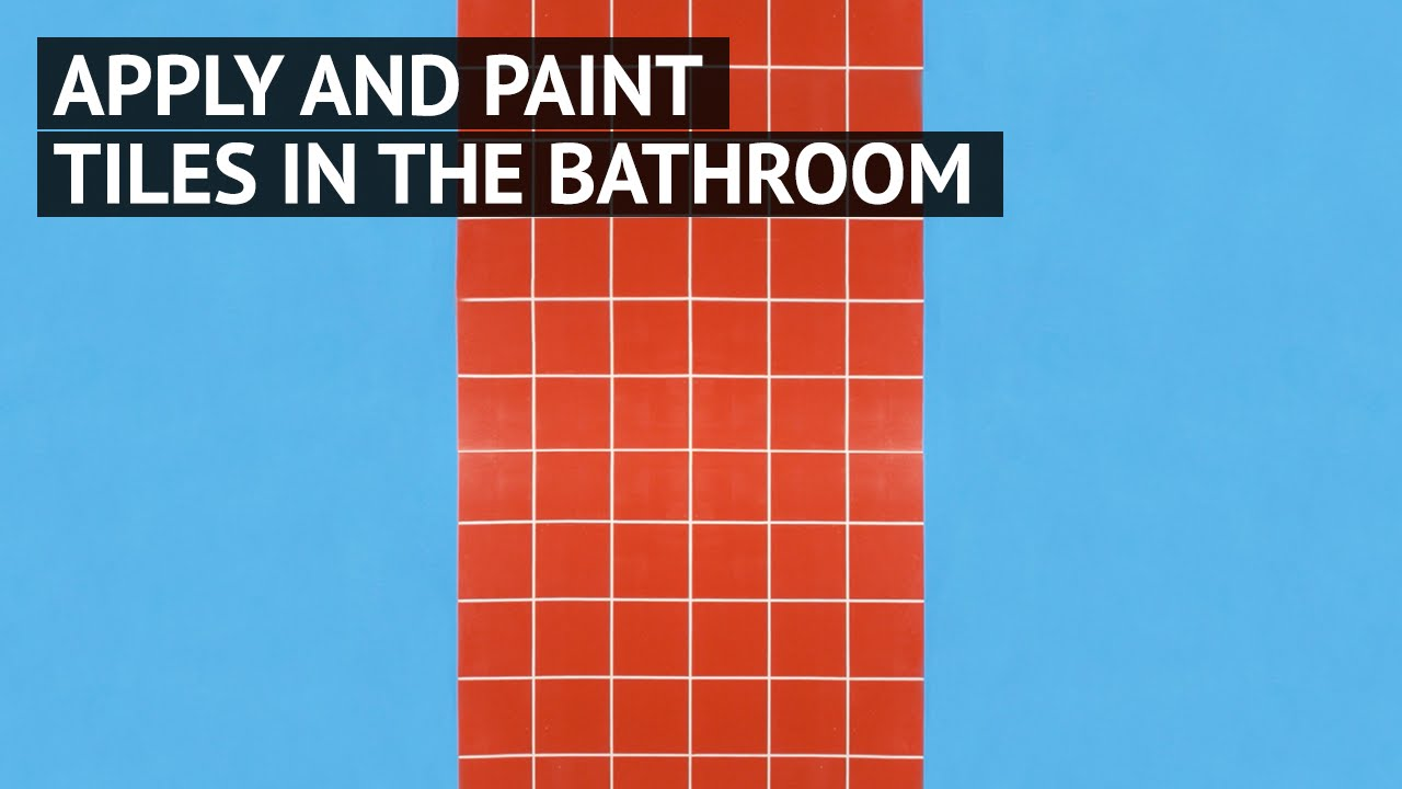 Apply and paint bathroom tiles - YouTube
